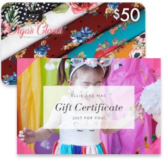 Ellie & Mac and Olga's Closet Gift Cards