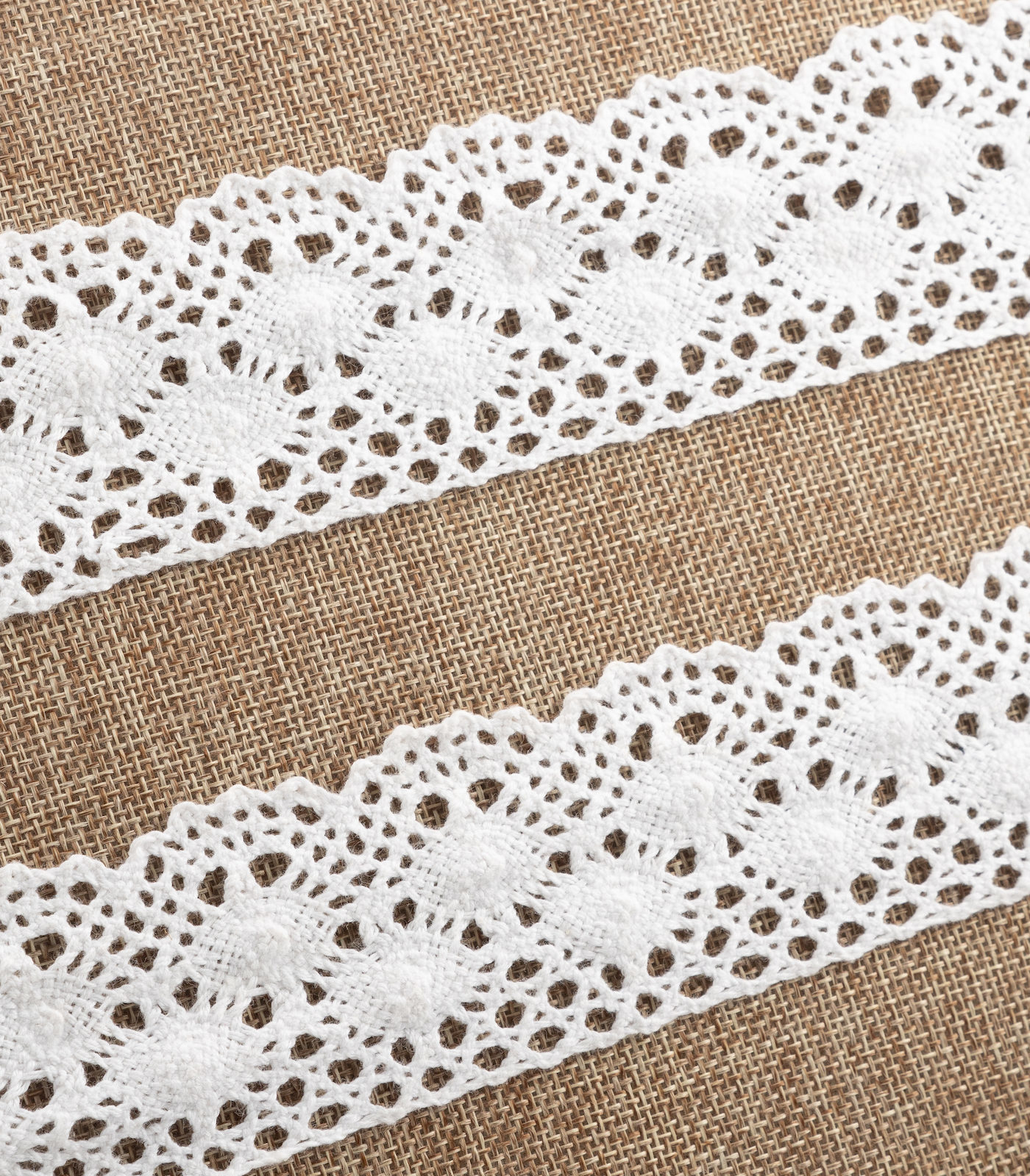2in White Crochet/Floral Lace Trim