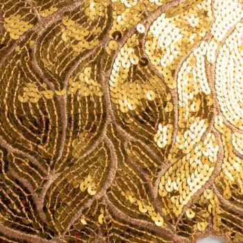 8in Gold/Mustard Sequins/Sparkle Lace Trim