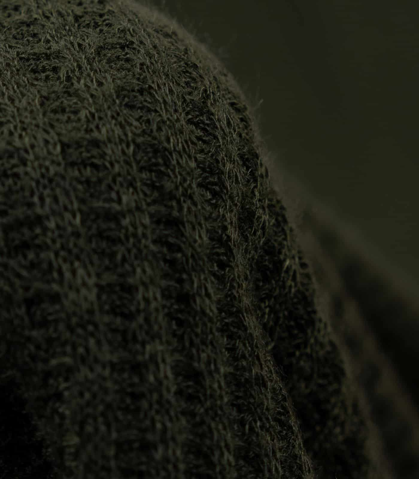 Olive Solid Waffle Knit