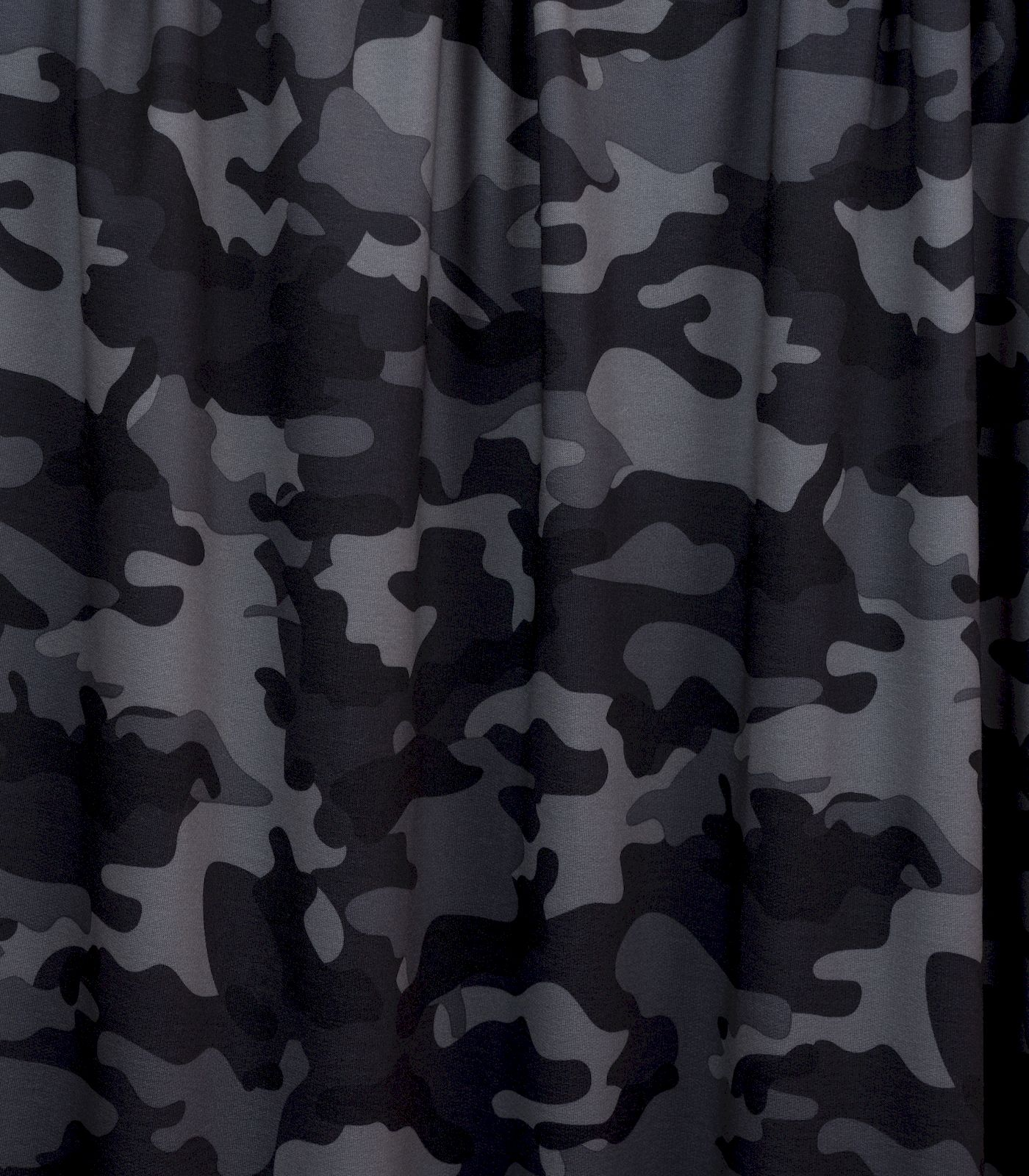 Charcoal/Black/Grey Camo French Terry Rayon