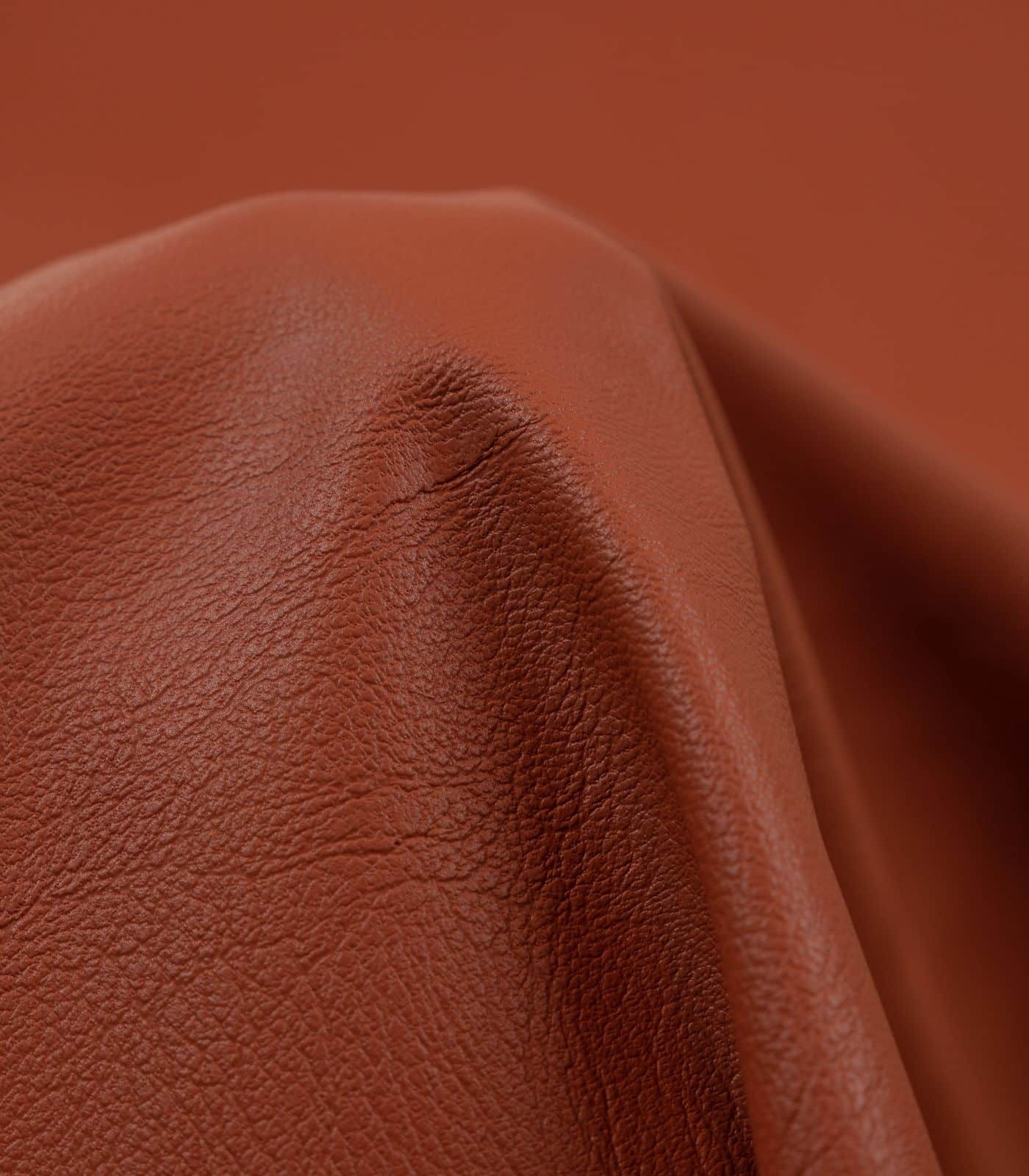 Rust Solid PU Leather