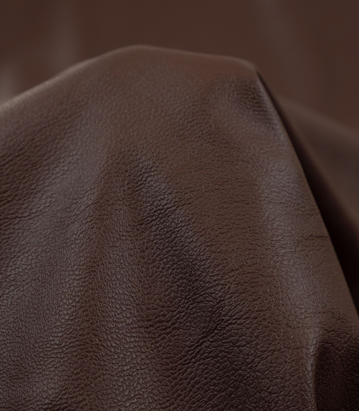Brown Solid PU Leather