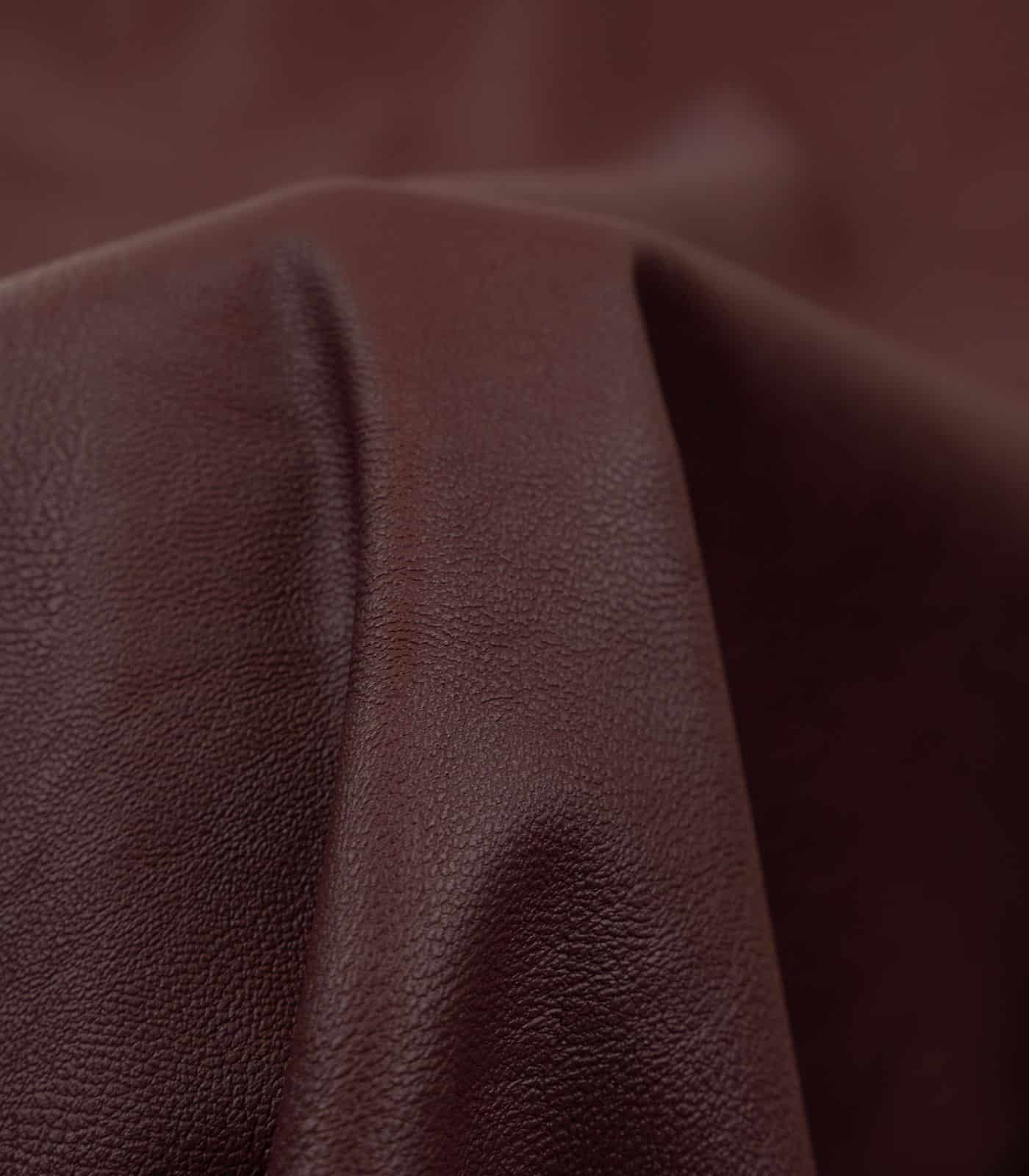 Burgundy Solid PU Leather