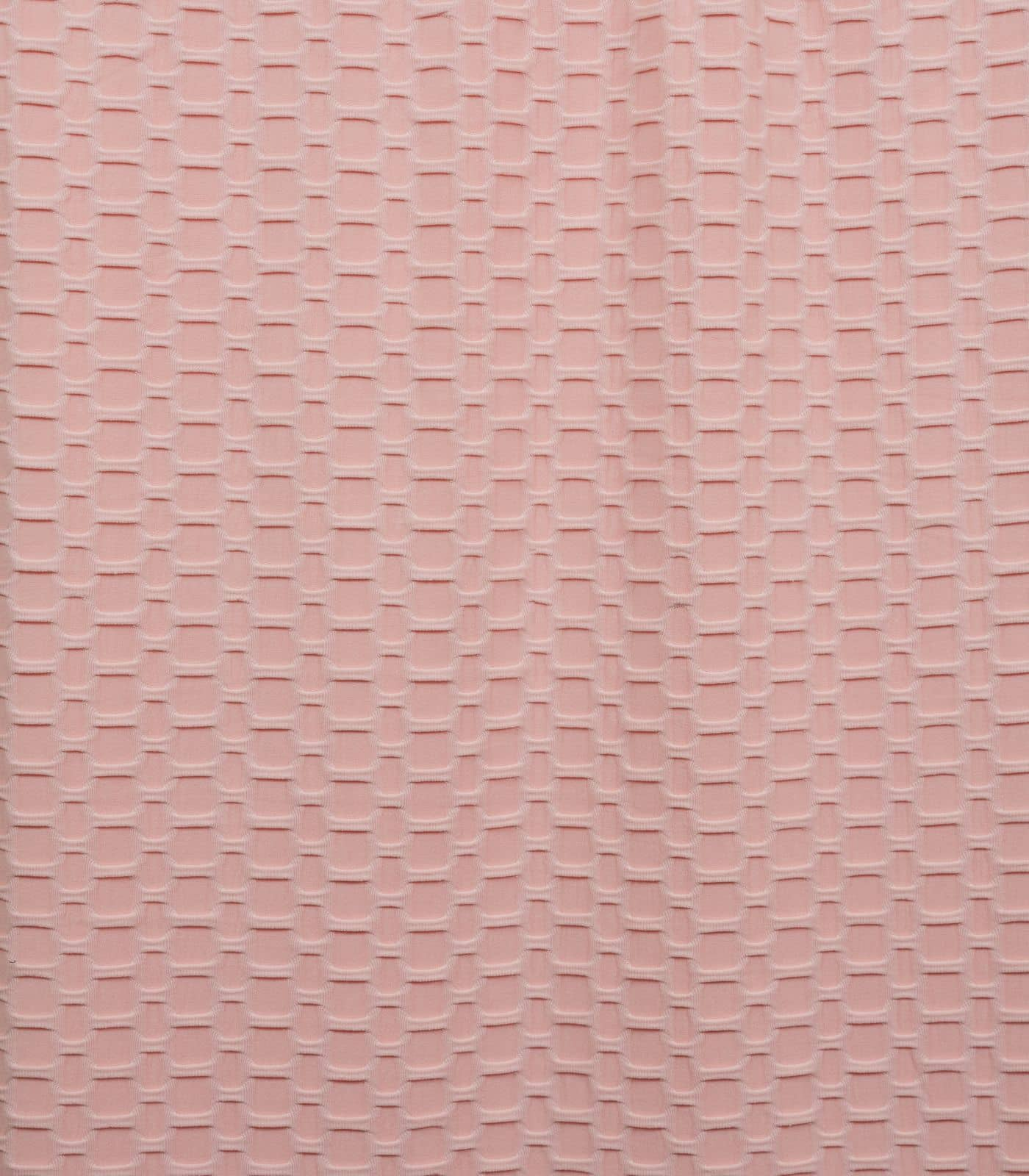 Pink Honeycomb/Solid Poly Spandex Athletic Knit
