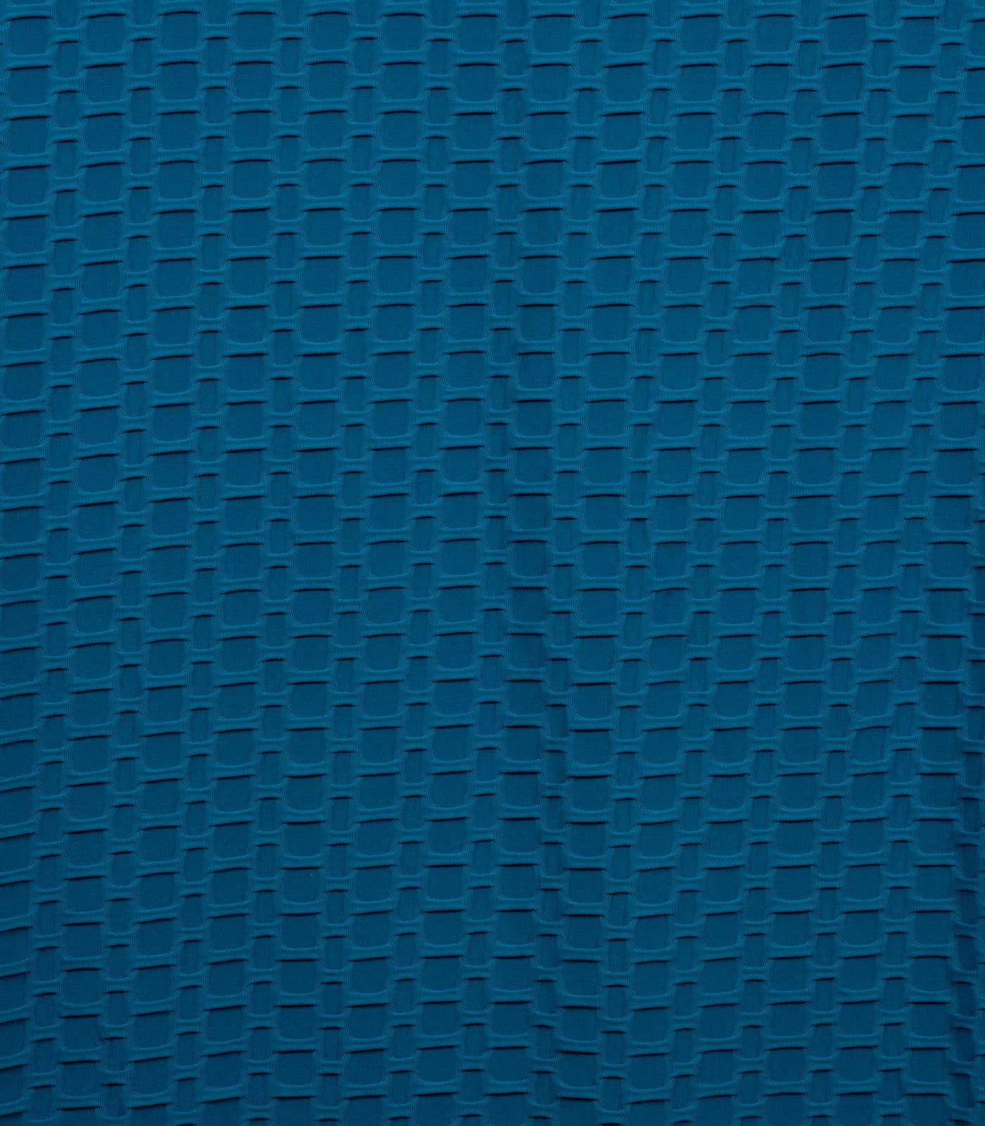 Teal Honeycomb/Solid Poly Spandex Athletic Knit